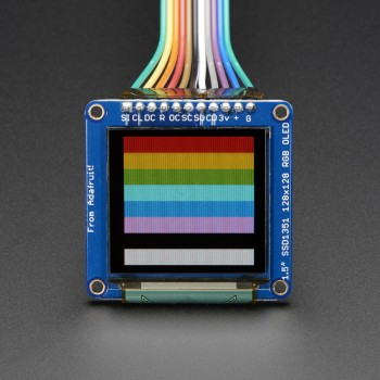 "Adafruit OLED Breakout Board, 1.5"" 16-bit Color, microSD Holder"