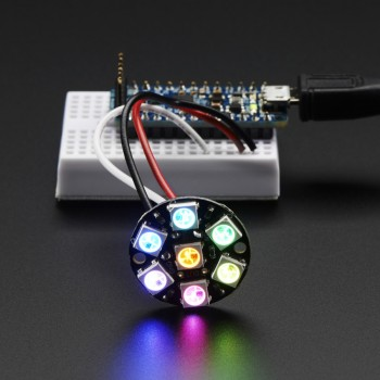 Adafruit NeoPixel Jewel, 7 x 5050 RGB LED with Integrated Drivers