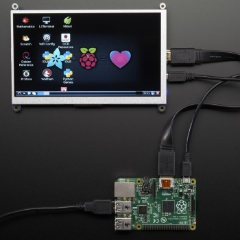 "Adafruit HDMI 7"" 800x480 Display Backpack ohne Touch"
