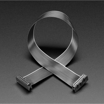"""Adafruit GPIO Ribbon Cable 2x8 IDC Cable, 16 pins 12"""" long"""