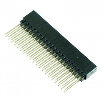 Stackable Female Header for Raspberry Pi, 2x20, 2-pack