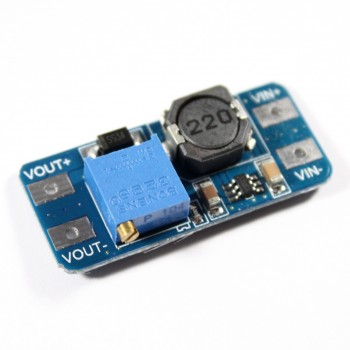 Step-up Converter Module with MT3608, 2A Boost Converter, from 2V-24V to 28V max.