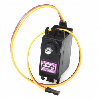TowerPro 360˚ MG996R Metal Gear Servo, Continuous Rotation for Robots