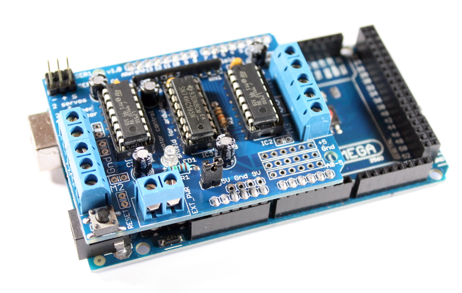 Motor shield with l293d stepper servo driver for Servo motor stepper motor