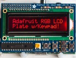Adafruit RGB Negative 16x2 LCD+Keypad Kit for Raspberry Pi
