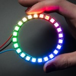 Adafruit NeoPixel Ring, 24 x 5050 RGB LED with Integrated Drivers