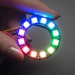 Adafruit NeoPixel Ring, 12 x 5050 RGB LED with Integrated Drivers
