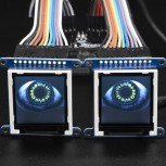 Adafruit Animated Eyes Bonnet für Raspberry Pi, ohne Displays