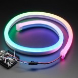 Adafruit NeoPixel RGB Neon-like LED Flex Strip with Silicone Tube, 1 meter