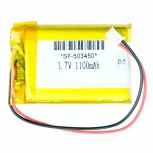 Lithium Polymer Battery, LiPo/LiPoly with JST-PH Connector, 3.7V 1100mAh
