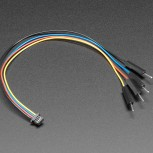 Adafruit STEMMA QT JST SH 4-Pin to Premium Male Headers Cable, Qwiic Compatible, 150mm Long
