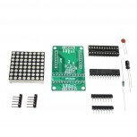LED Matrix Assembly Kit with MAX7219 and 8x8 LED-Matrix with 64 red LEDs