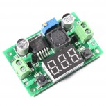 Voltage Regulator Module with 7-Segment LED Display Voltmeter, LM2596 Step-Down