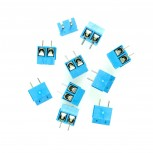 Stackable Screw Terminal Block for PCBs, 2-Pin, Ø 2.5 mm, 5.0mm Spacing, 10-Pack